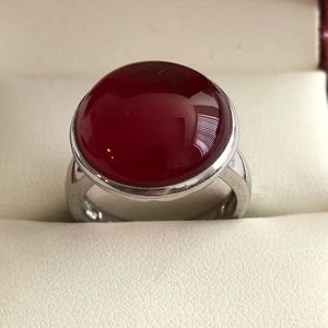 Jewelry - Sterling Silver Ring with Agate